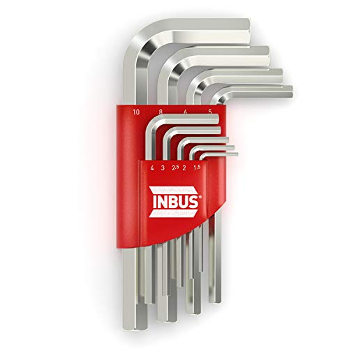 INBUS® 70150 Set de llaves hexagonales 9pz, 1.5–10mm — Made in Germany