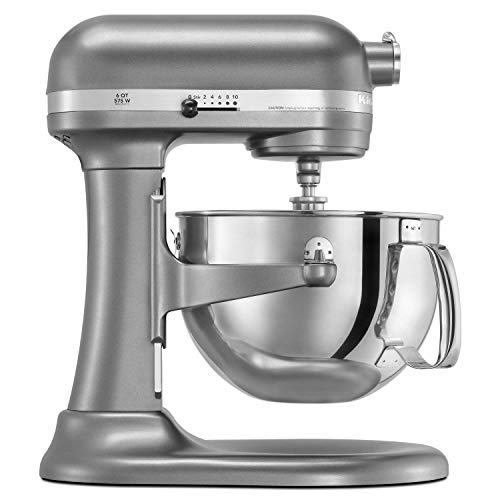 KitchenAid RKP26M1XCU PRO600 Stand Mixer Continental - Silver (Renewed)