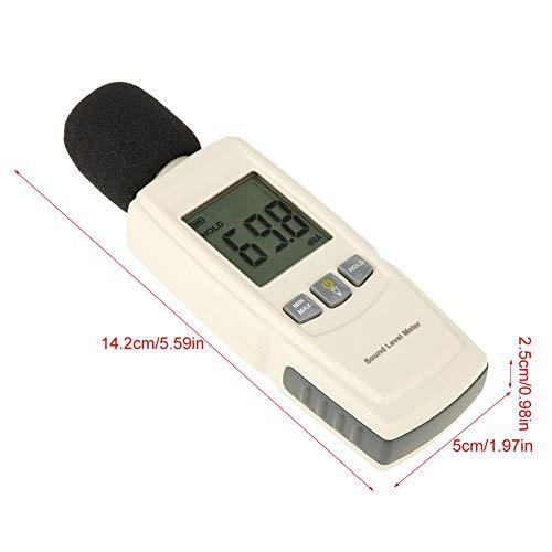 Digitales LCD-Schallpegelmessgerät, GM1352 Tragbares digitales LCD-Schallpegelmessgerät Geräuschmessgerät Bereich von 30 dB bis 130 dB Dezibel