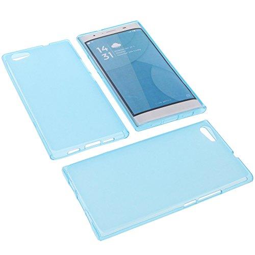 foto-kontor Tasche für Doogee Y300 Gummi TPU Schutz Handytasche blau