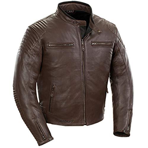 Joe Rocket Men's Leather Jacket (Brown, X-LARGE)