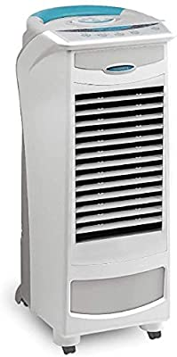 Symphony White Silver-E 9L Evaporative Portable Air Cooler | Multi Stage Air Purification | Remote Control | Low Energy Consumption | Home or Office Use | 3 Speed | Sleep & Natural Modes
