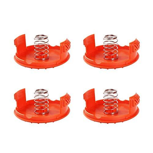 Guanici Tapas de repuesto para bobinas automáticas de repuesto Spool Cap Covers con Primavera compatible con Black y Decker RC-100-P para AFS Trimmer Spool ool ABS Material 4 piezas (amarillo)