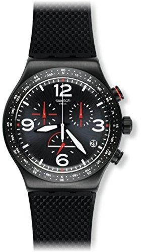 Swatch Reloj Digital para Hombre de Cuarzo con Correa en Caucho YVB403