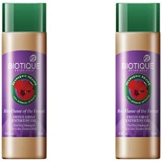 Biotique Bio Flame of the Forest Fresh Shine Expertise Oil - 120ml (Pack of 2)