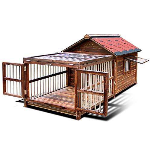XYF Caseta De Madera para Perros, Resistente Exterior De La Casa De Perro 33,4 Pulgadas De Alto, Four Seasons Universal Casa De Perro, Adecuado...
