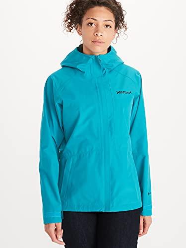 Marmot Wm's Minimalist Jacket Waterproof Gore-Tex Jacket, Lightweight Rain Jacket, Windproof Raincoat, Breathable Windbreaker, Ideal for Running and Hiking - Enamel Blue, Large