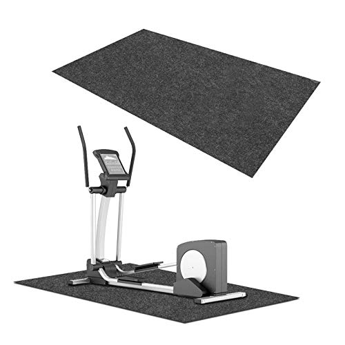 Unterlegmatte Laufbandmatte, wasserdicht, für Fitnessgeräte - - Robust - Schalldämmende Boden-Schutzmatte Heimtrainer-Ausrüstungsmatte, Bodenschutz für Zuhause und Fitnessstudio