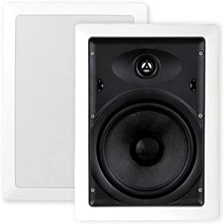 """Selby 8"""" Glass Fibre Cone In Wall Speakers Pair XQ8205B.x2"""