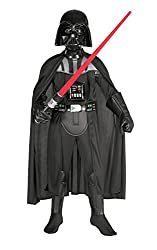 Includes mask, cape, belt and jumpsuit with moulded detail US designed and sized product Rubie's official licensed product tested to all required European and UK standards, including EN71 and REACH