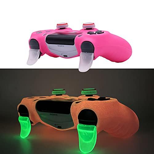 HLRAO PS4 Controller Skin Housse en Silicone Grip Glow in Dark Housse de Protection pour manettes PS4 / Slim / Pro Dualshock 4.
