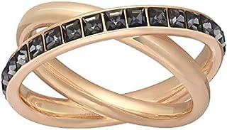 Swarovski Dynamic Rose Gold Crystal Stacking Ring - Size L
