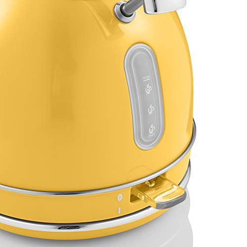 Swan Retro 1.8 Litre Dome Kettle Fast Boil 3KW - Yellow