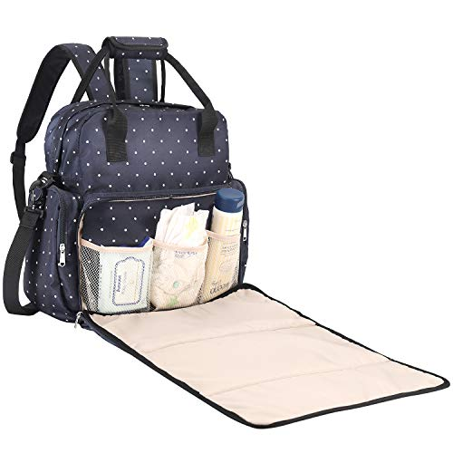 SAWNZC Diaper Bag Backpack, Large Maternity Baby Nappy Changing Bag Multifunction Travel Back Pack, Waterproof Tote Shoulder Diaper Bag with Changing...