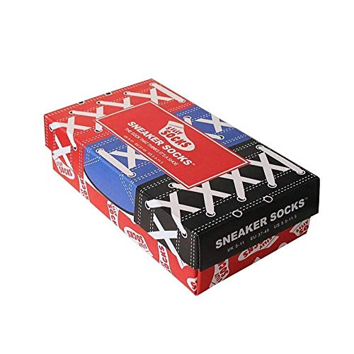 Sneaker Socken blau - Silly Socks im Sneakers Turnschuhe Stil