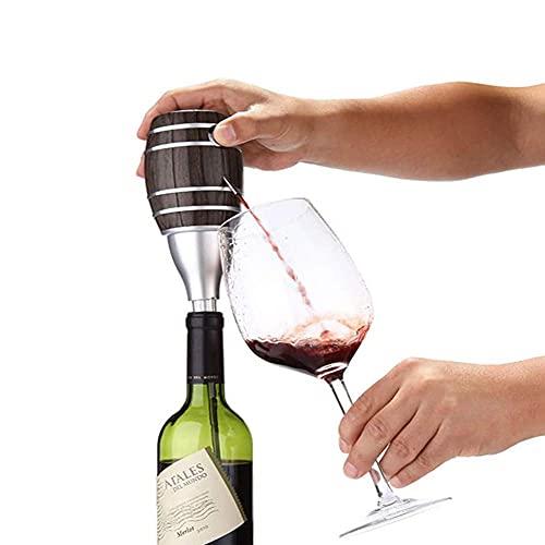 QAWSED Bomba De Vino Bomba Eléctrica Dispensadora De Vino, Aireador De Vino, Vertedor Automático De Vino, Decantador De Vino Automático Portátil De Un Toque, Adecuado Para La Mayor