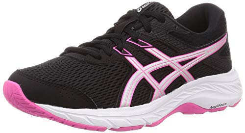 ASICS Gel-Contend 6, Zapatillas para Correr Mujer, Black Pink GLO, 41.5 EU