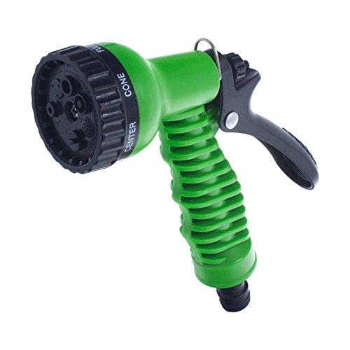 Smartfox Gartenschlauch Düse Gartenbrause Handbrause Wasserdüse Spritzpistole mit 7 einstellbaren Funktionen in Grün
