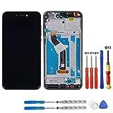 Swark Pantalla LCD para Huawei P8 Lite 2017 (no Compatible con Huawei P8 Lite), Color Negro, Pantalla táctil, digitalizador de Cristal + Marco + Herramientas