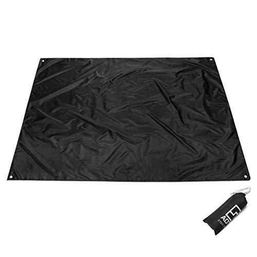 HEHXKJ Manta de Picnic 2m * 1.5m Manta de Playa Impermeable Manta portátil Al Aire Libre Picnic Mat Camping Terreno colchón Camping Camping Cama Cama de Dormir (Color : Black, Size : 210X200CM)
