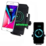 Motorcycle Wireless Charging Phone Holder, 10W Waterproof Wireless Motorcycle Phone Mount For Samsung, IPhone, Etc Wireless Phone. Installed On Motorcycles, ATVs, UTV, Snowmobiles, Scooters, Fz09, Etc