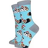Women's Premium Comfort Animal Socks (Guinea Pig Socks Blue)
