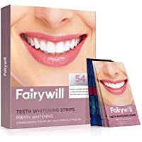 54-Pieces Fairywill Teeth Whitening Strips for Sensitive Teeth and 1 Hour Express 3D white Whitestrips for Free