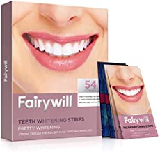 Fairywill Teeth Whitening Strips(54 Pcs), Advanced Dental Formula, Enamel Safe for Sensitive Teeth, Include Professional White Strips and 1 Hour Express 3D white Whitestrips