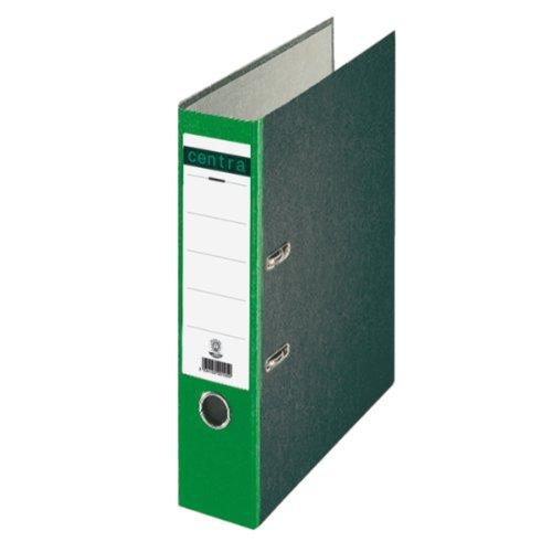 Centra 220124 Standard-Ordner (grauappe RC, mit Wolkenmarmor-Papier-Kaschierung, A4, 8 cm Rückenbreite) grün