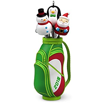 Hallmark Keepsake Christmas Ornament 2018 Year Dated Golf Ho-Ho-Hole in One