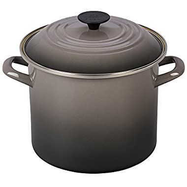 Le Creuset Enamel-on-Steel 8-Quart Covered Stockpot, Oyster
