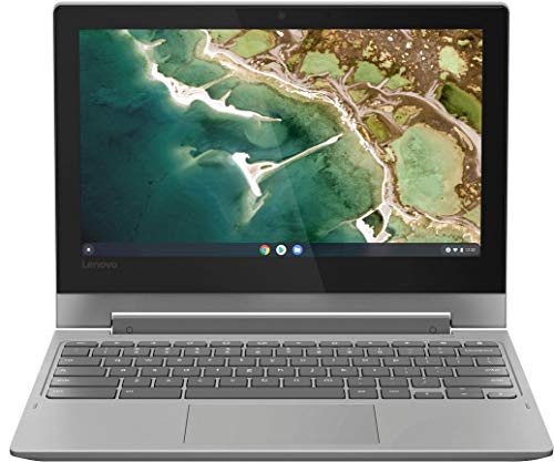 2020 Lenovo Chromebook 2-in-1 11.6' HD Touchscreen Laptop PC, MediaTek MT8173C Quad-Core Processor, 4GB RAM, 32GB eMMC, HDMI, Webcam, Wi-Fi, Bluetooth, Google Chrome OS, Platinum Gray
