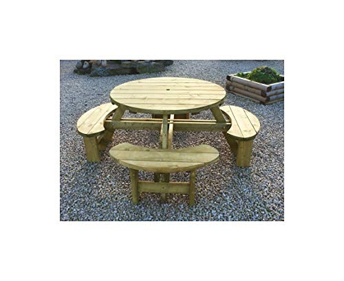 Inspiring Furniture LTD Tanalised Round 8 Seater Picnic Bench