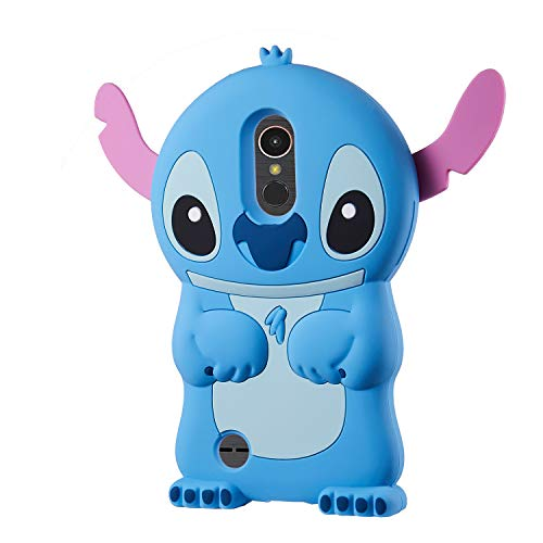 Allsky Case for LG Tribute Dynasty/Zone 4/Aristo 2/Aristo 3/Tribute Empire,Cartoon Soft Silicone Cute 3D Fun Cool Cover,Kawaii Kids Girls Teens Animal Character Cases for LG K8 2017 Blue Stitch