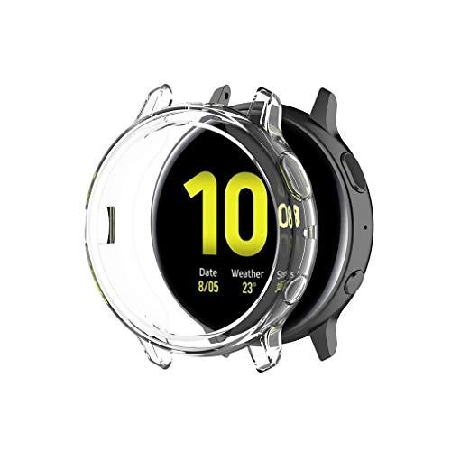 Hülle für Samsung Galaxy Watch Active 2 44MM,BJJH Ultra-Slim Soft TPU Schutzhülle Kratzfest Abdeckung Rundherum Schutz Schlankes Case Cover für Samsung Galaxy Watch Active 2 44MM (Klar)
