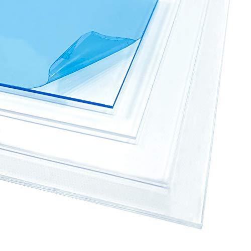 Plexiglass Plaque Transparente A4 21 x 30 cm - Epaisseur 1 mm - Verre Acrylique - Feuille PVC Transparente - Panneau Protection Plastique