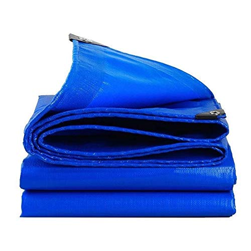 Blue tarps heavy duty waterproof 16x20 outdoor ,long and large tarps for slip and slide Durable PE Tarpaulin with Grommets and Reinforced Edges ,12Mil Thick -Weather Proof , Rip and Tear Proof