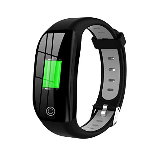 XUEXIU Smart Wireless Watch Smart Pulsera Impermeable Fitness Monitor De Ritmo Cardíaco Pulsera Deportiva Reloj Inteligente (Color : Silver Grey)