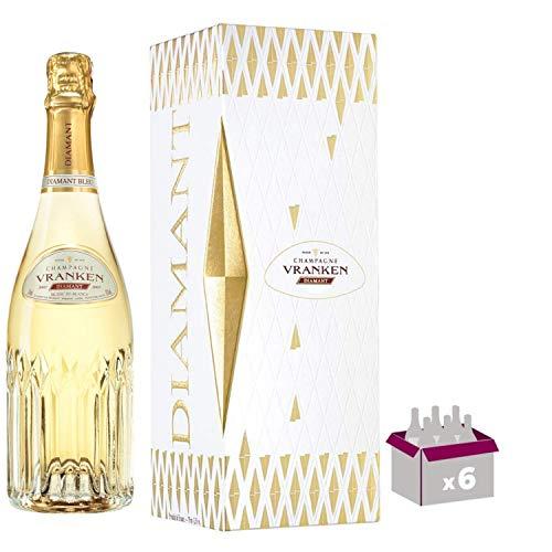 Champagne Vranken - Diamant Blanc de Blancs - In confezione regalo 6 * 75cl