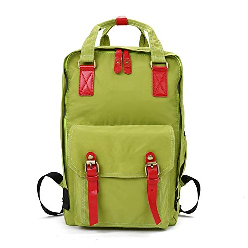 MQJ School Waterproof Lightweight Backpack 18' College Travel Bag for Women Girls 14 inch Laptop for Student,Green,18Inch