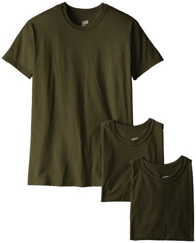 Soffe Men's 3 Pack-USA Poly Cotton Military Tee, OD Green, Medium