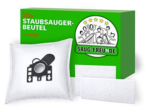 SAUG-FREUnDE I 20 Staubsaugerbeutel kompatibel zu SWIRL M 40, M40, MENALUX 3101, MIELE Staubbeutel GN HyClean 3D, G N, Modell 9917730
