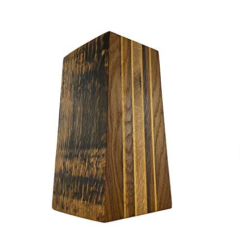 Palatina Werkstatt ® | exklusiver, unbestückter Messerblock | aus den Fassdauben von Alten Eichen-Weinfässern von Hand gefertigt