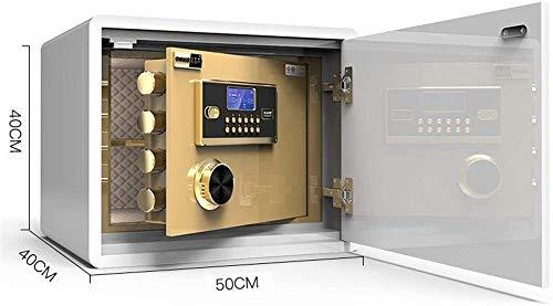 ZHUYUE-Office voor onzichtbare veiligheid van het gezin, kluis, 40 cm, hoge wachtwoord, staal, hout, elektronisch, kleur: wit, afmetingen: 40 x 40 x 50 cm