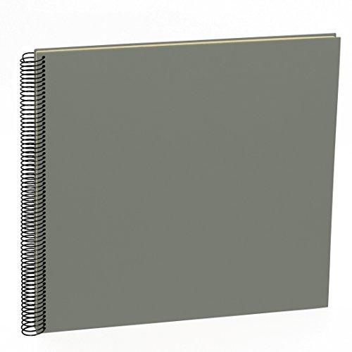 Semikolon (352939) Spiral Album Large grey (grau) - Spiral-Fotoalbum mit 50 Seiten u. Efalin-Einband -Fotobuch mit cremeweißem Fotokarton