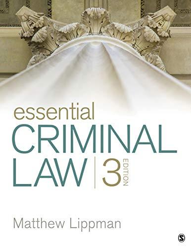 Compare Textbook Prices for Essential Criminal Law 3 Edition ISBN 9781544355986 by Lippman, Matthew