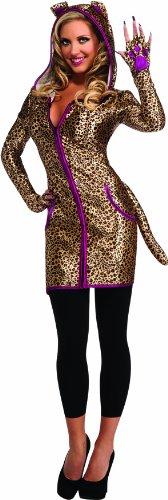 Disfraz de leopardo para mujer, con sudadera y capucha, Talla única adulto (Rubie's 880759)