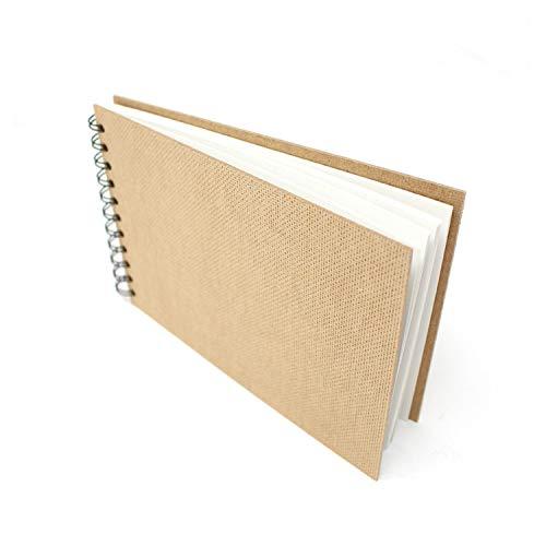 Artway Enviro - Bloc Encuadernado con gusanillo - Papel Cartridge 100% Reciclado - Tapas de aglomerado - 170 gsm - 35 Hojas - 1 x Apaisado A5