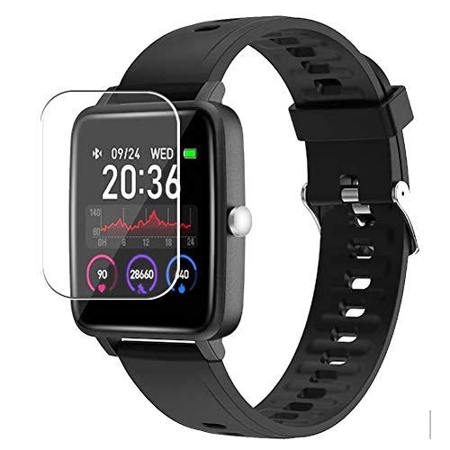 Vaxson 3 Unidades Protector de Pantalla, compatible con Doogee CS1 smart watch [No Vidrio Templado] TPU Película Protectora Reloj Inteligente Film Guard Nueva Versión