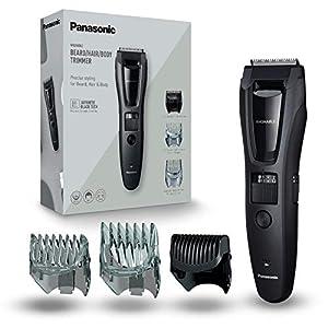 Panasonic ER-GB62-H503 Regolabarba e Tagliacapelli per la Cura di Barba, Capelli e Corpo, Taglio 1-20 mm, Lame in Acciaio Inox, 3 Pettini Accessori, Lavabile, Nero